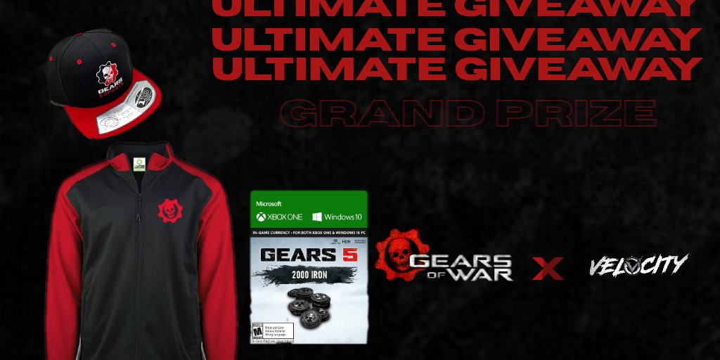 We blew this month's budget 😔. Time to win big Gears fans.   Velocity brings you the Gears Ultimate Giveaway with three chances to win big. To enter (must be a follower) Like/RT and that's it! Three winners will be chosen on 8/23/20. Good luck and GodSpeed! #TeamVelocity ⚡️ https://t.co/RTQ1xfn31Q