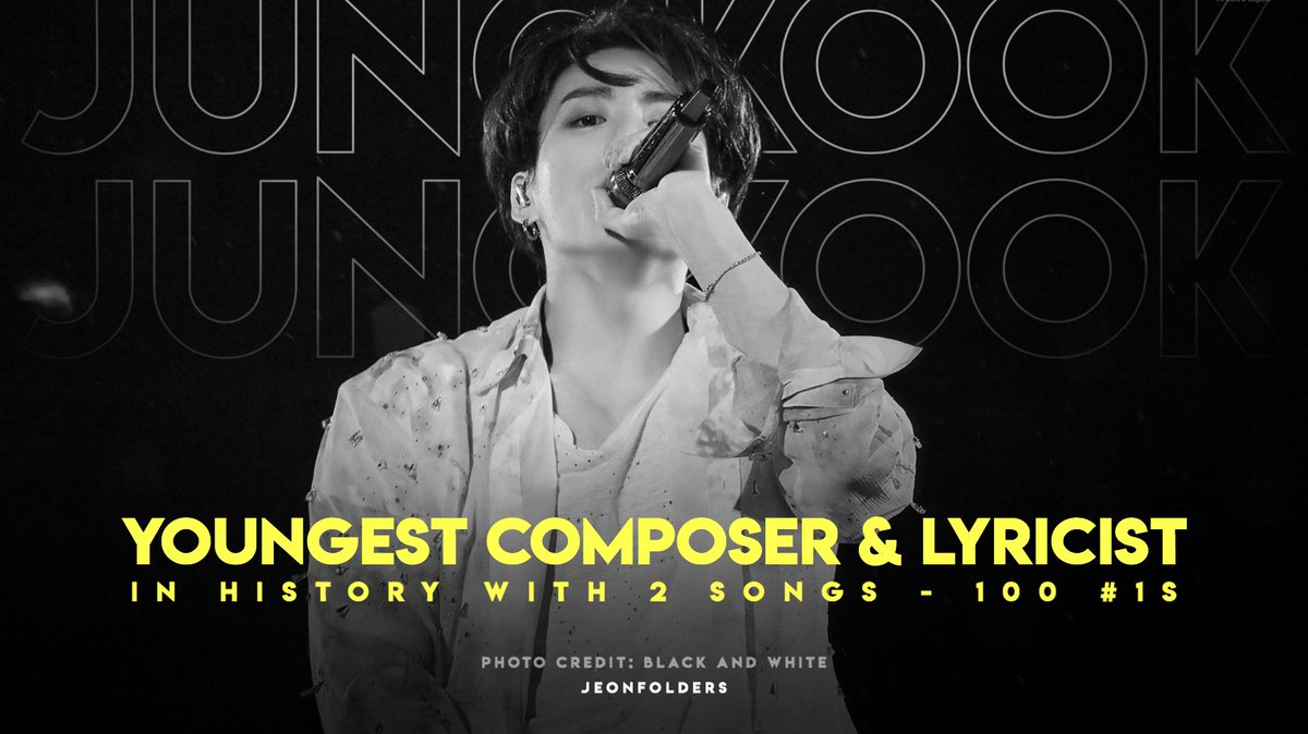 [INFO] Jungkook becomes the Youngest Composer and Lyricist in History to have Two songs 'My Time' and 'Your Eyes Tell' reaching 100 #1's on iTunes. ✨   #100TimesforMyTime #정국의_시차_100개국_1위 https://t.co/SEluf1n1Rh