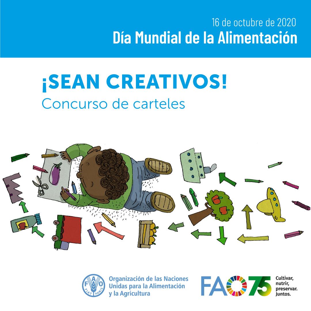 """FAO Colombia på Twitter: """"¿Tarde familiar? 👩👦👨👧👨👩👧👦 Te invitamos a participar en el 🎨concurso de carteles por el Día Mundial de la Alimentación 2020 #DMA2020 #WFD2020 """"Cultivar, nutrir, preservar. Juntos""""📝 https://t.co/ihF5CjbuGT Una"""