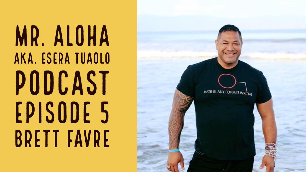 @HATEISWRONG Present Mr. Aloha pod cast with special guest, my good friend and brother the original gunslinger @BrettFavre 6pm central time. Subscribe to @hateiswrong YouTube channel. Or click on the link https://t.co/2YP1khUArd  @outsports @NFL @packers @viking @NFLPA @NFLonFOX https://t.co/Hour1WoSfb