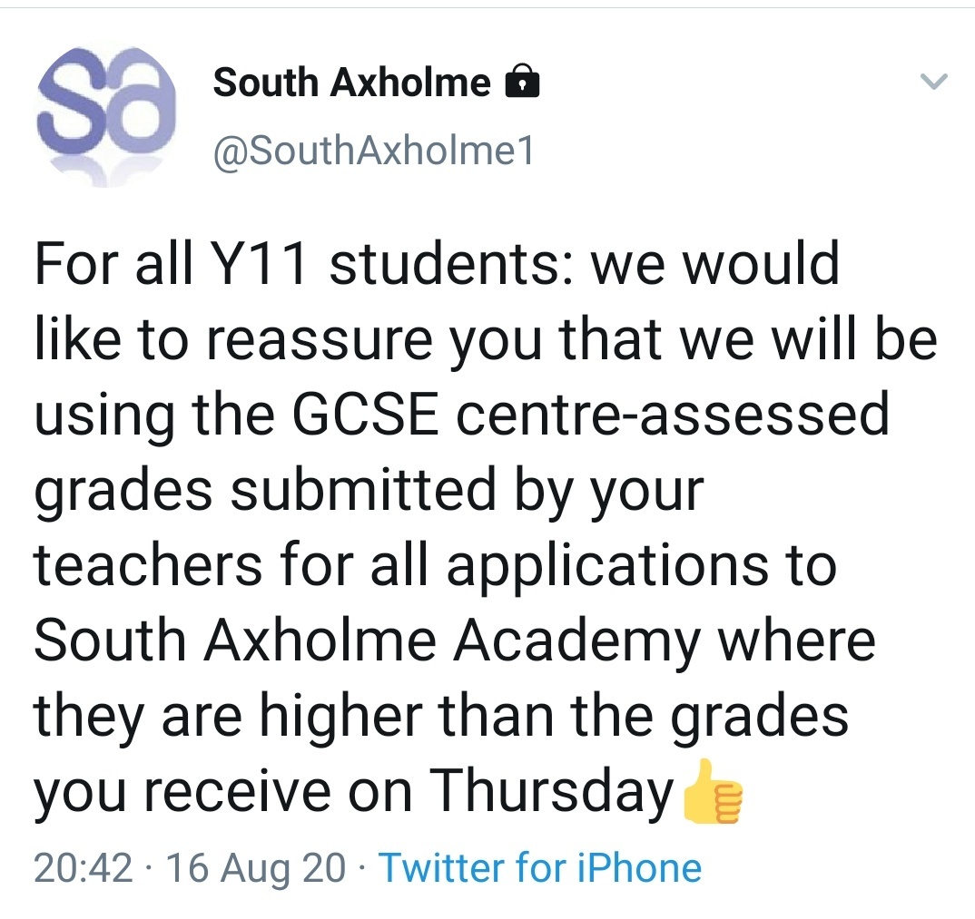 So proud to work here ❤️ #gcses2020 #gcseresults