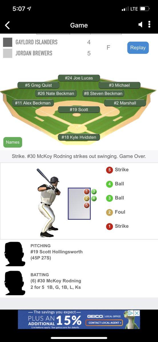Ball game...