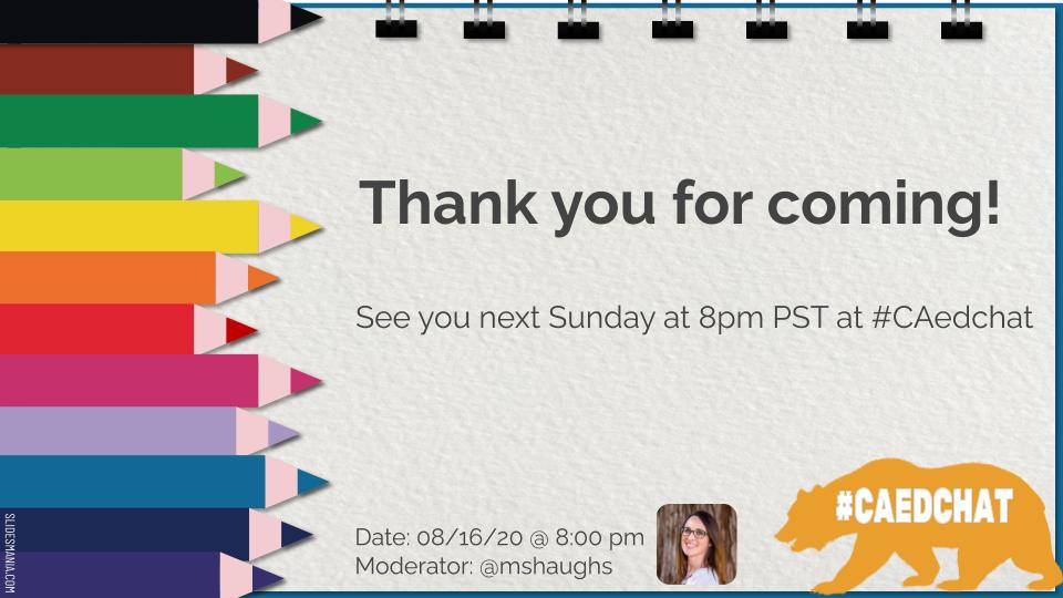 Thanks to everyone for coming out tonight to join us! #caedchat https://t.co/7h1gLwteAa