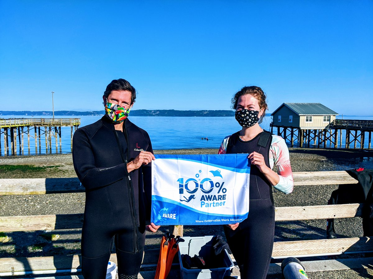 Thank you to all of our guests and students this week.   We love diving with you.    Congratulations to our new Advanced Open Water certified divers (pictured) and our Dive against Debris and Project AWARE students.  #PADI #projectaware #100AWARE #seattledivetours #godive #thanks https://t.co/c1YzftLxlB
