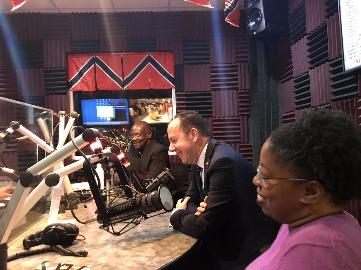 A great way to spend an evening! Thanks to @GarthStClair & @tashez for having me on @RealityRadioTT @i955fm to reflect on the past 5 years. 🇹🇹  A strong partnership with @RealityRadioTT - one that I'm sure will continue. Many thanks to those who shared their kind words. https://t.co/e9mhJjN4aQ