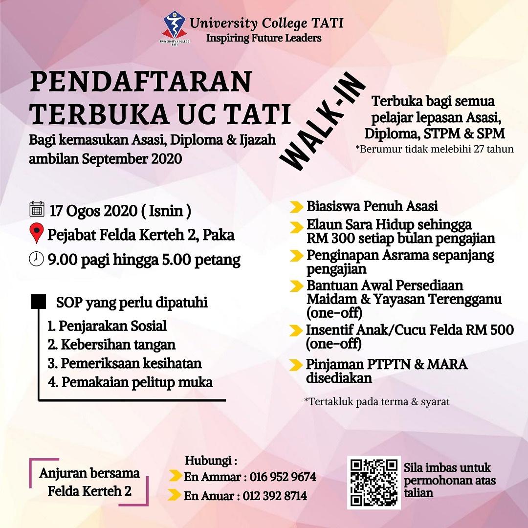 Borang Bantuan Awal Pengajian Yayasan Terengganu