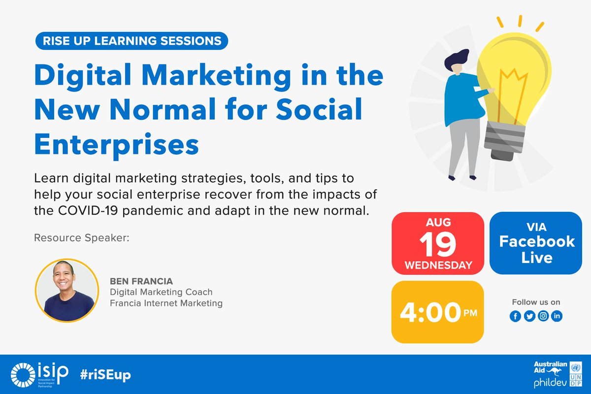 Your business becomes more relevant and accessible to your target audience with digital marketing. Learn how this can help you in our upcoming live stream this Wednesday, 4 PM!  Click here: https://t.co/Iehs2YWHGV https://t.co/A4cG2vXHyf