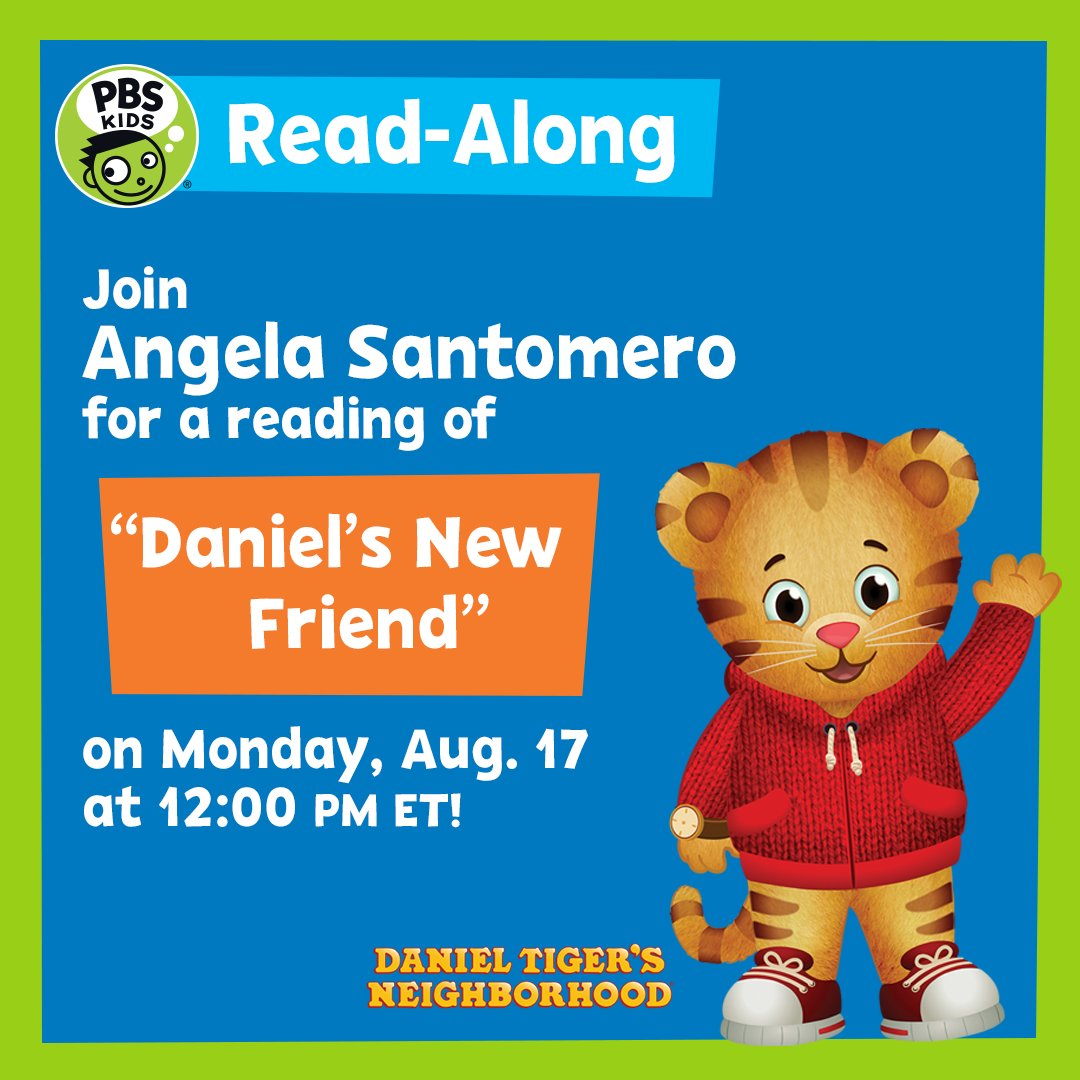 Fred Rogers Productions On Twitter Join Us For A Virtual Story Time With Danieltigertv Creator Angelasclues Head To The Pbskids Facebook Page August 17 That S Today At 12 Pm Et Https T Co Y9vvvndfsq Https T Co Mpxhxbl35p