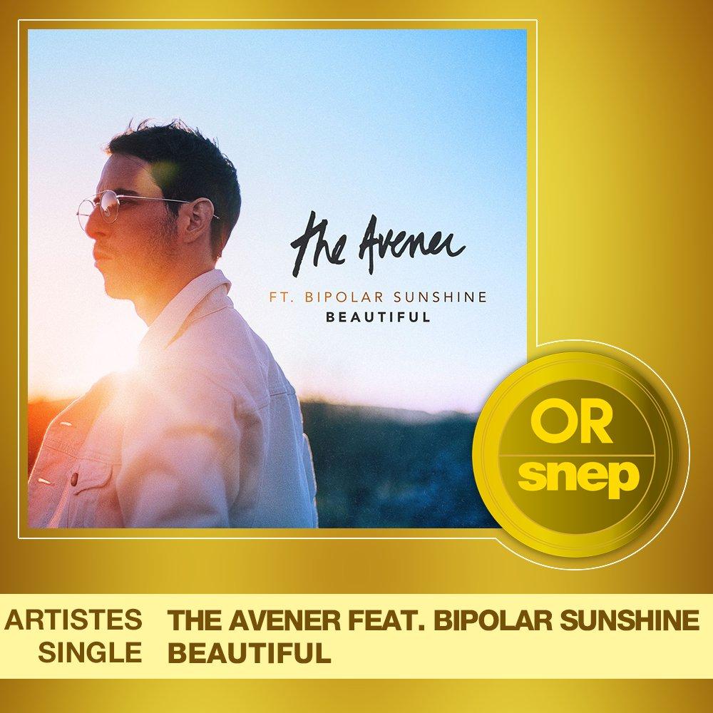"""Le titre """"Beautiful"""" de The Avener feat. Bipolar Sunshine est certifié Single Or ! 📀  15 000 000 équivalents streams 🎧  Bravo ! 👏 https://t.co/pCC0gPE7QI"""