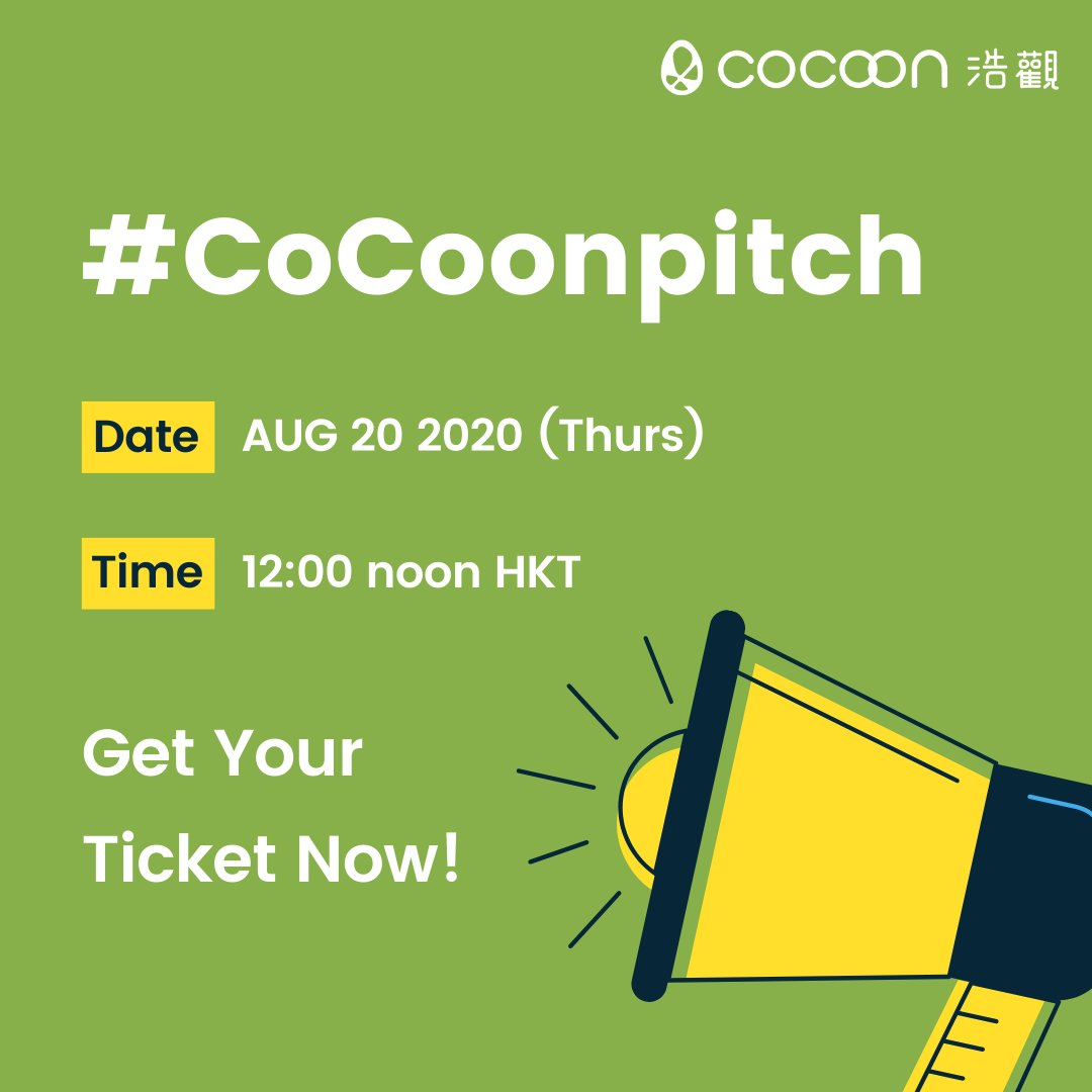 Fancy to hear from bold entrepreneurs who have great inspirations for the betterment of humankind? Attend our upcoming #CoCoonpitch and see for yourself!  RSVP: https://t.co/YY4GM7d9zB   #pitch #startup #hkstartup #entrepreneurship #investors #eventbrite #hkcocoon #hkonlineevent https://t.co/o2BymRADvu