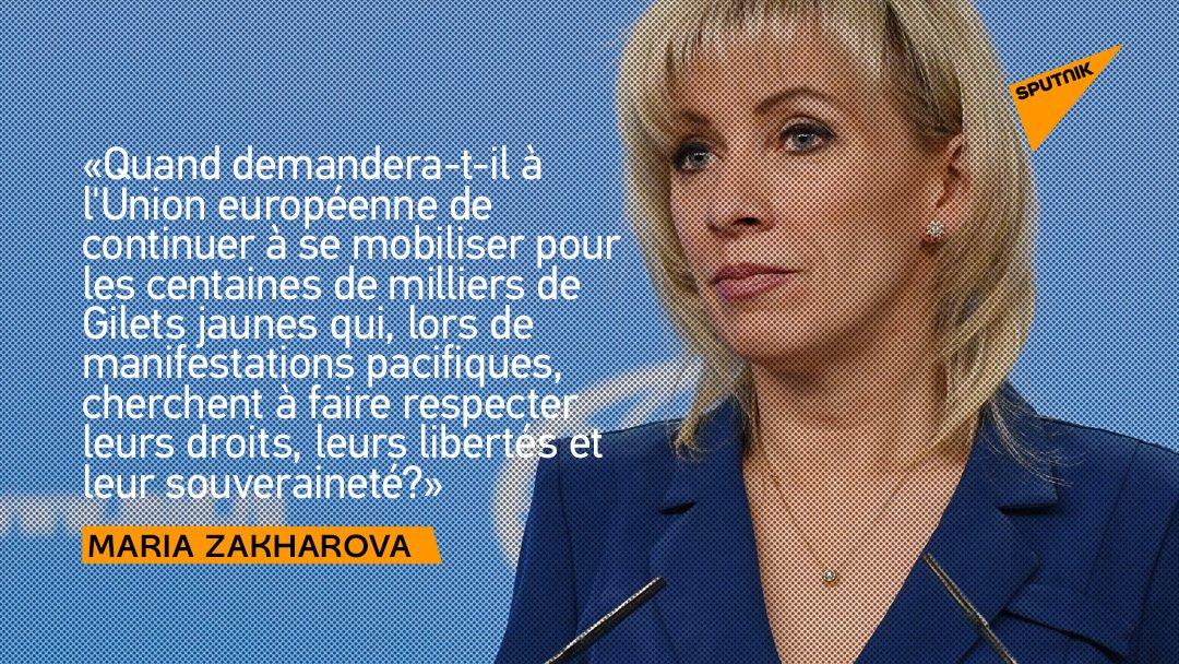 """Sputnik France's tweet - """"Macron incite à soutenir les ..."""