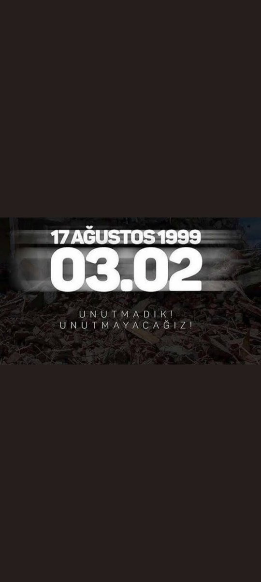 #17Agustos1999 https://t.co/0ZZNFgJua6