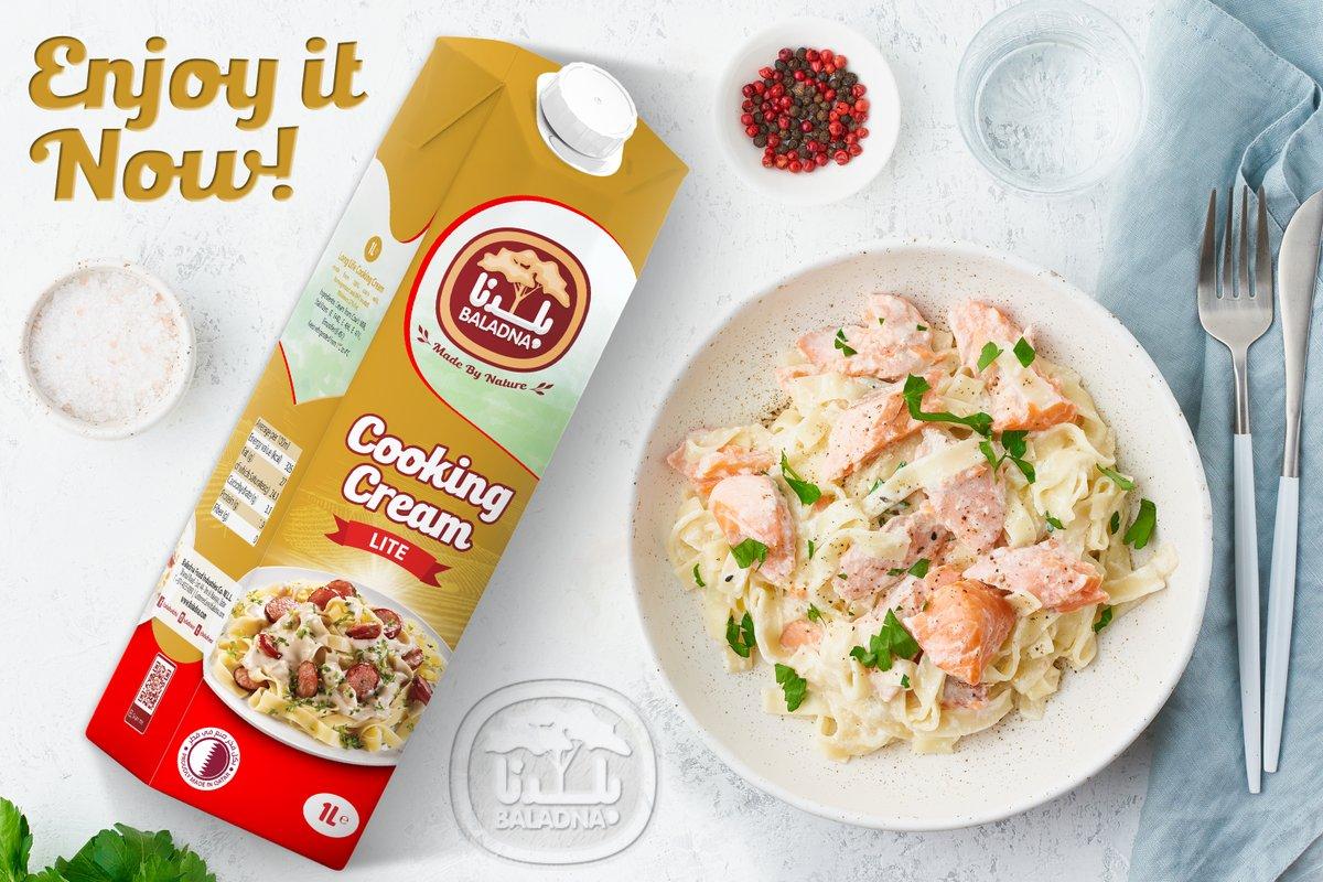 جديد من بلدنــا، كريمة الطبخ لايت. حافظوا على صحتكم! New from Baladna, Lite Cooking Cream. Stay healthy!   #قطر #بلدنا #qatar #doha #كريمة_الطبخ #cooking_cream  #Pasta #lowfat https://t.co/ds6AlGzsqQ