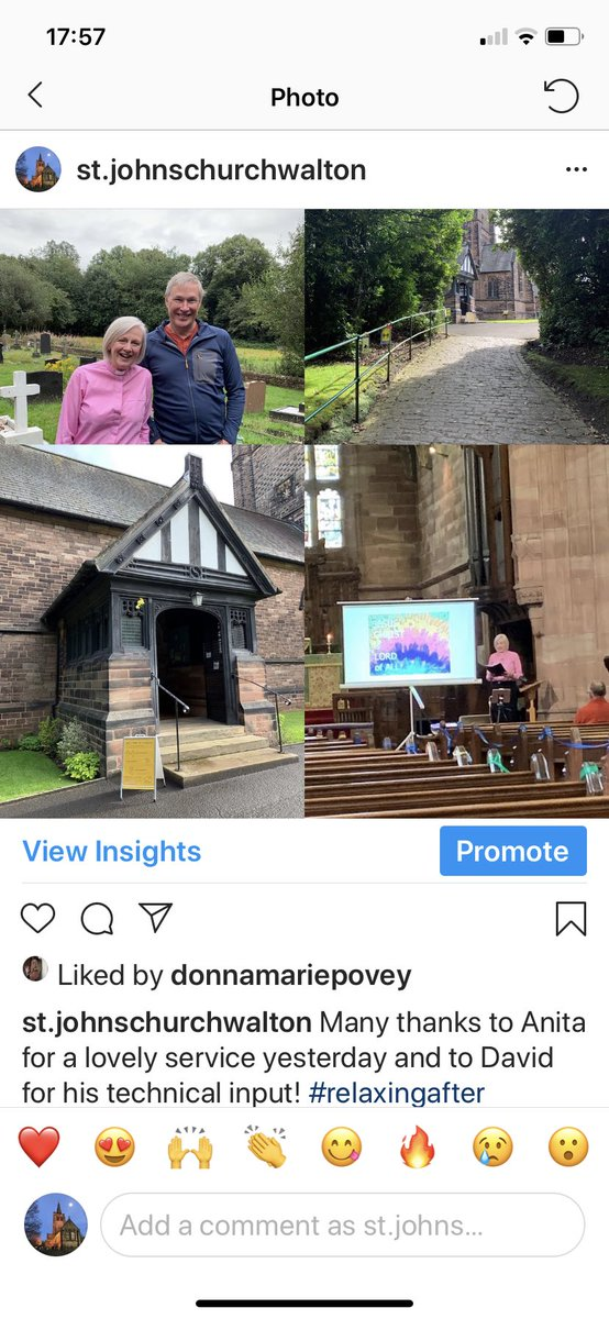 Many thanks to Anita for a lovely service yesterday and to David for his technical input! #livestreaming #stjohnschurch #godisgood #mondaythoughts https://t.co/GdXfflMolh