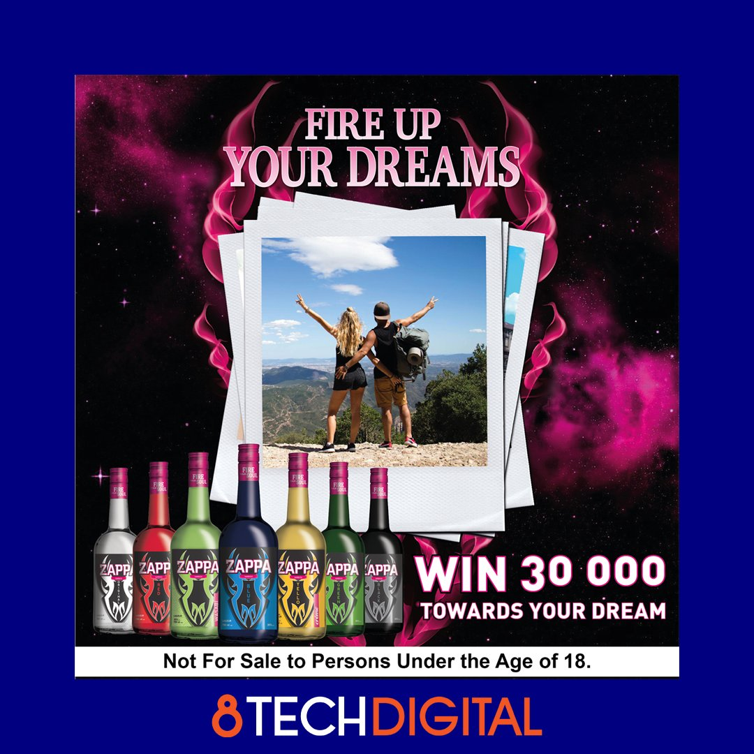 SUMMARY:  8TechDigital created a microsite for Zappa where consumers could submit their dream holiday destinations and stand a chance to WIN a trip there  RESULT:  Over 10 000 people submitted their dream on our site https://t.co/ReTtioMN85
