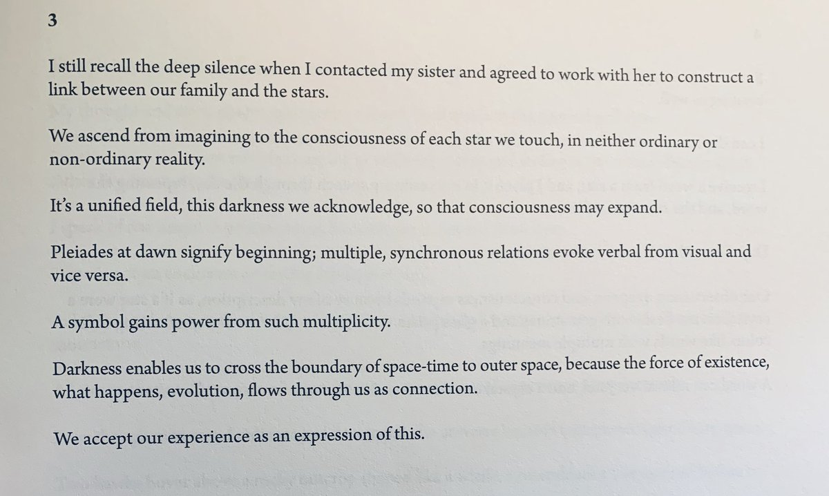 """I still recall the deep silence when I contacted my sister and agreed to work with her to construct a link between our family and the stars."" -Mei-Mei Berssenbrugge, A Treatise On Stars"