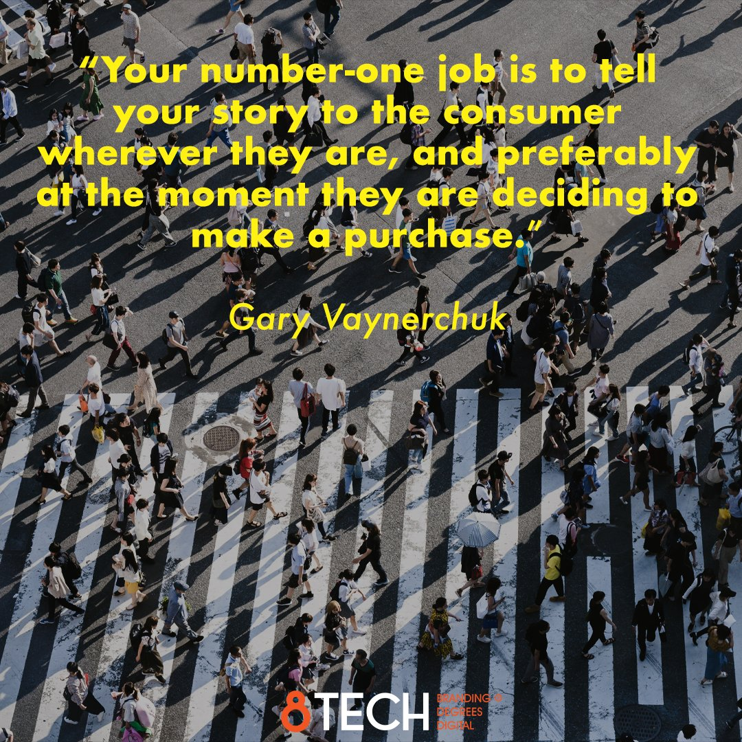 """""""your number-one job is to tell your story to the consumer wherever they are, and preferably at the moment they are deciding to make a purchase."""" ― Gary Vaynerchuk #motivationmonday #inspiration #quoteoftheday #quotes #motivation #marketing #storytelling https://t.co/igwDlYbZrl"""