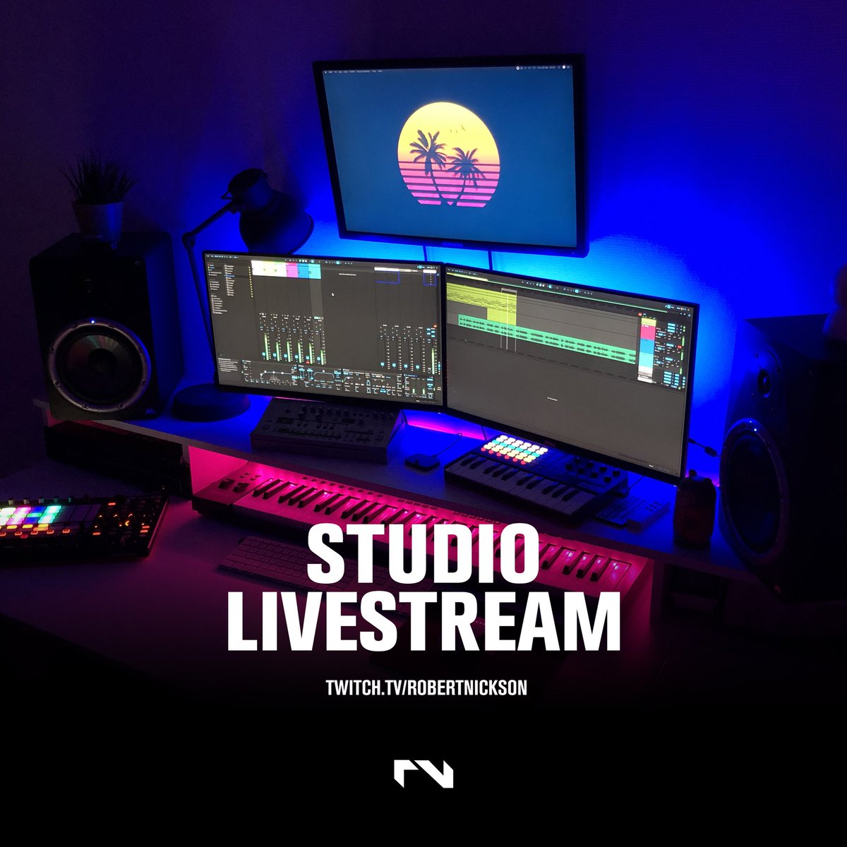 Join me in just under 3 hours on Twitch as I (attempt to) make an RNX track from scratch.  https://t.co/CsrSOQJZ5L  18:00 CET 🇪🇺 17:00 GMT 🇬🇧  12:00 EST 🇺🇸  09:00 PST 🇺🇸   #ableton @Ableton #producer #studio #livestream #twitch #rnx #trance #prog https://t.co/2kY8Z8c05H