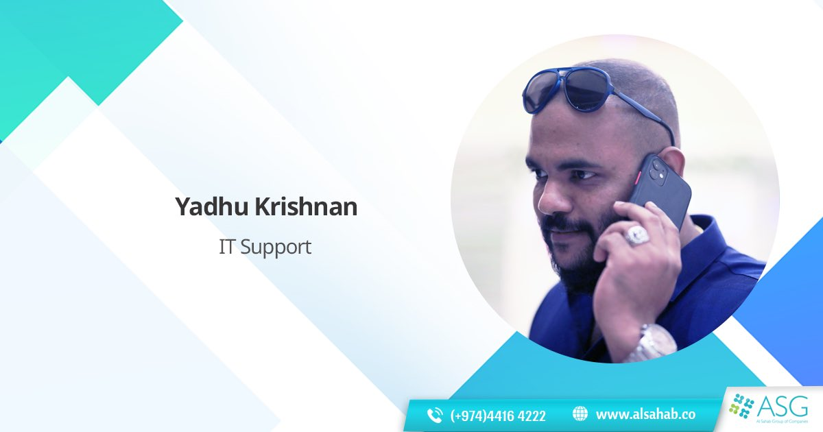 Without technology, a business is outdated. Yadhu Krishnan is our expert IT Support Personnel who keeps our system updated and helps us perform without any interruptions. 💻  . . . #meettheteam #informationtechnology #IT #ITSupport #technicalsupport #technicalexpert #team https://t.co/dtePZ9qXDh