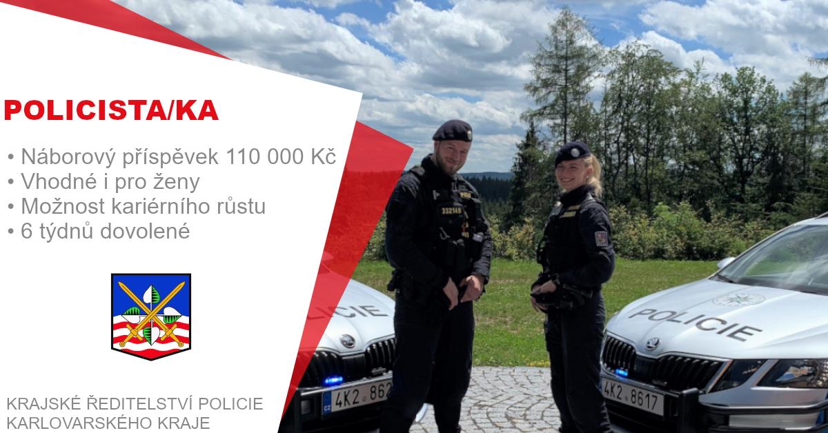 #nabidkaprace #karlovyvary #policiecr   Staň se #policistou / #policistkou! Hledáme kolegy do týmu v okrese Karlovy Vary. Stabilní #práce, náborový příspěvek, pravidelný růst platu, dovolená navíc a jiné benefity. 🌐https://t.co/fsXwkoXwpz   #job #newjob #karlovarskykraj #jobs https://t.co/amvgnqJJhs