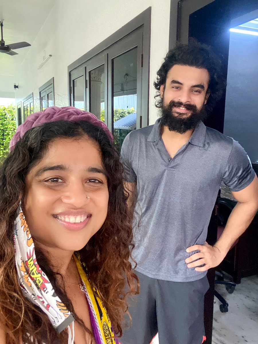 Such a lovely man this @ttovino !! Literally just chanced upon his home in Kerala and asked if I could meet him and in 5 mins,this! And a sweet chat, all socially-distanced and not for the mic at all! Also hoping he and you will join us on #Southsidestory 23rd Aug from Kerala❤️ https://t.co/tSDsspIgvv