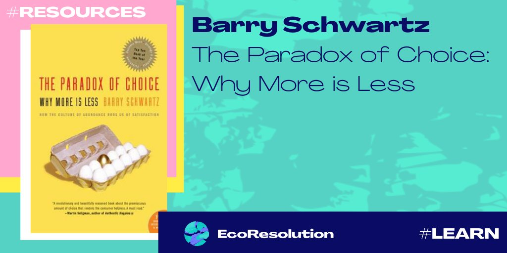 #LetsShare #Resources  @BarrySch explains why too much of a good thing has proven detrimental to our psychological and emotional well-being #myecoresolution #learn #waste #consumerism