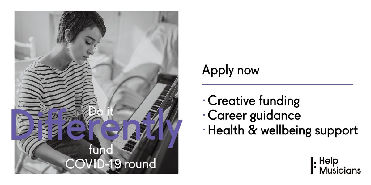 Do It Different Fund from @HelpMusiciansUK is now open for submissions from emerging artists. Offering £3k support, as well as career guidance, the fund has had a lot of success from artists including @GLXNS @FauxPas_UK +more! Deadline 14th Sept.  https://t.co/NYsa3VJhHZ https://t.co/jTCQ5o7y7P