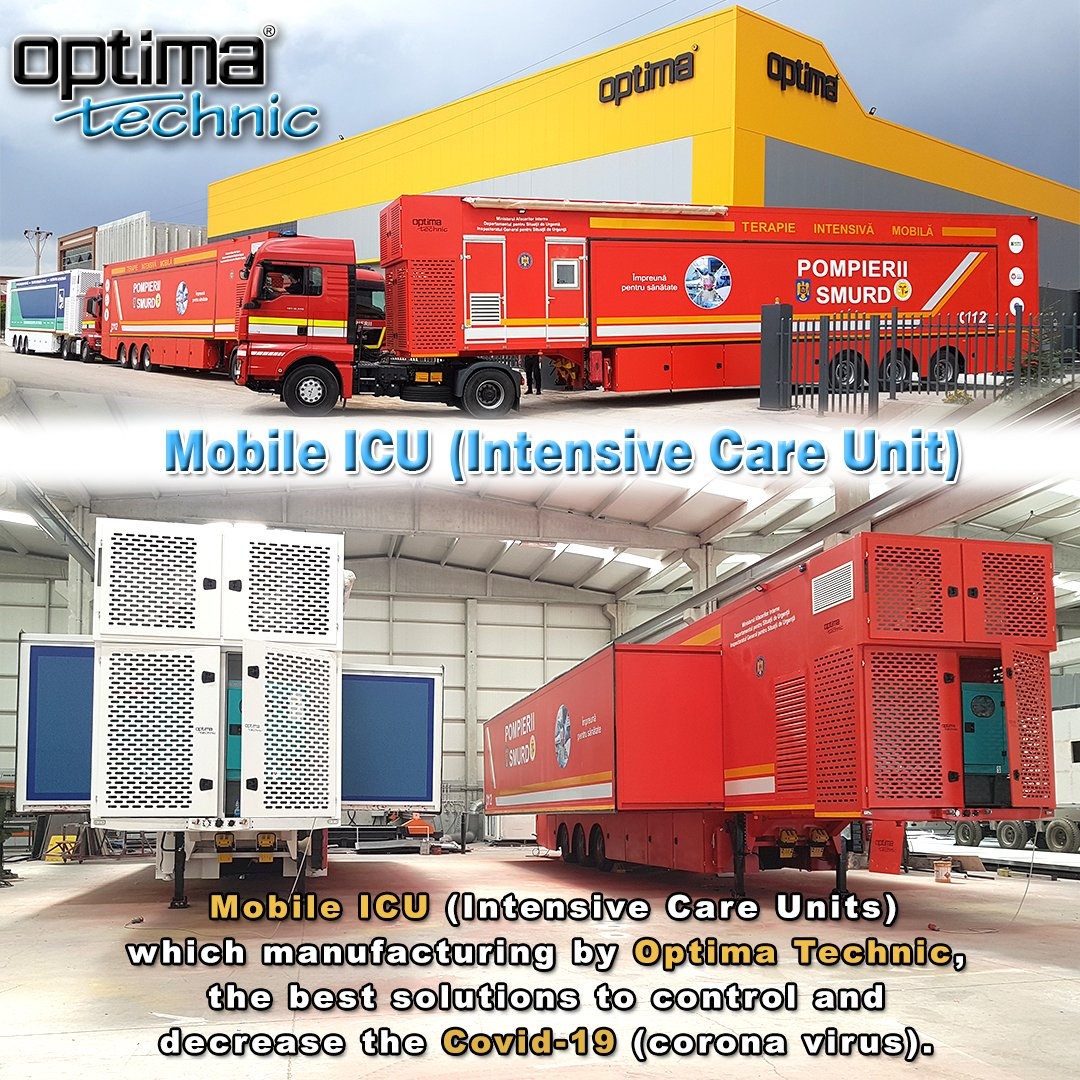 Mobile ICU (Intensive Care Units) which manufacturing by Optima Technic, the best solutions to control and decrease the Covid-19 (corona virus).   #optimatechnic #mobileicutrailer #mobilehospital #mobileclinics #fieldhospital #quarantine #madeinturkey #covid19 #corona #virus https://t.co/OXoihKjpCu