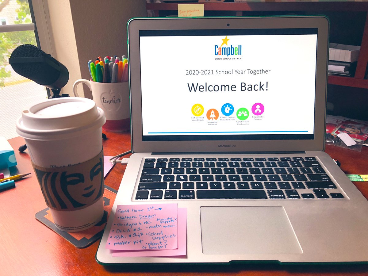 Well, this year's @campbellusd Back to School Breakfast isn't quite the same— I miss seeing my CUSD family IRL today!   But, I've got my coffee & my CSI shirt & I'm still celebrating my colleagues from home. Welcome back @CampbellCSI Wolfpack 🐺& #CUSDRockstar friends!! https://t.co/1rG1TRm9eo