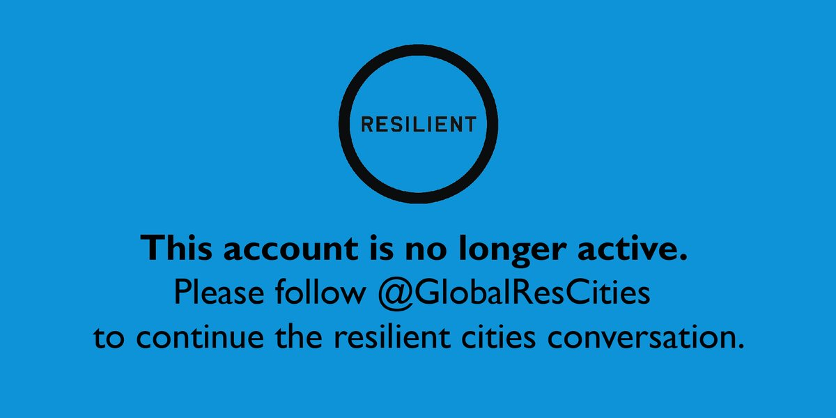 We have deactivated and migrated this account. Please follow @GlobalResCities to continue the #resilient #cities conversation. #GRCN #resilience https://t.co/gk2xnUGeoK