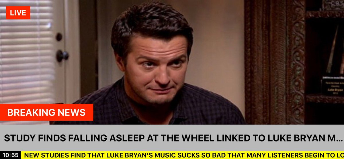 Wow! Just catching up on the news... Shocking! I have noticed some fatigue when @lukebryanonline comes on..