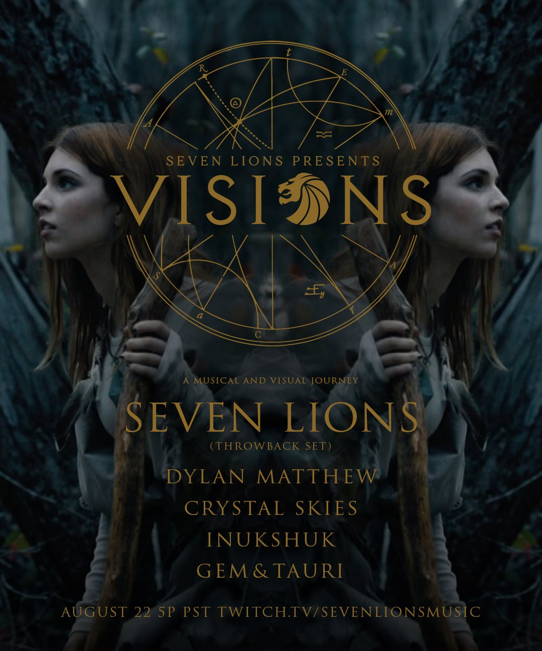 Visions #4 Live Stream Flyer