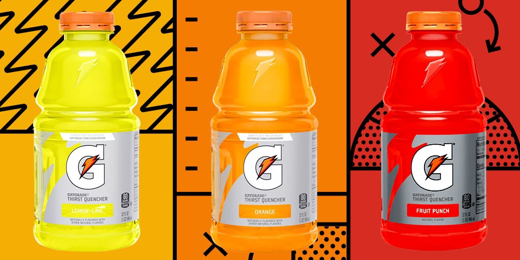 """Gatorade on Twitter: """"🟨🟧🟥 Start one. Bench one. Cut one. You decide.… """""""