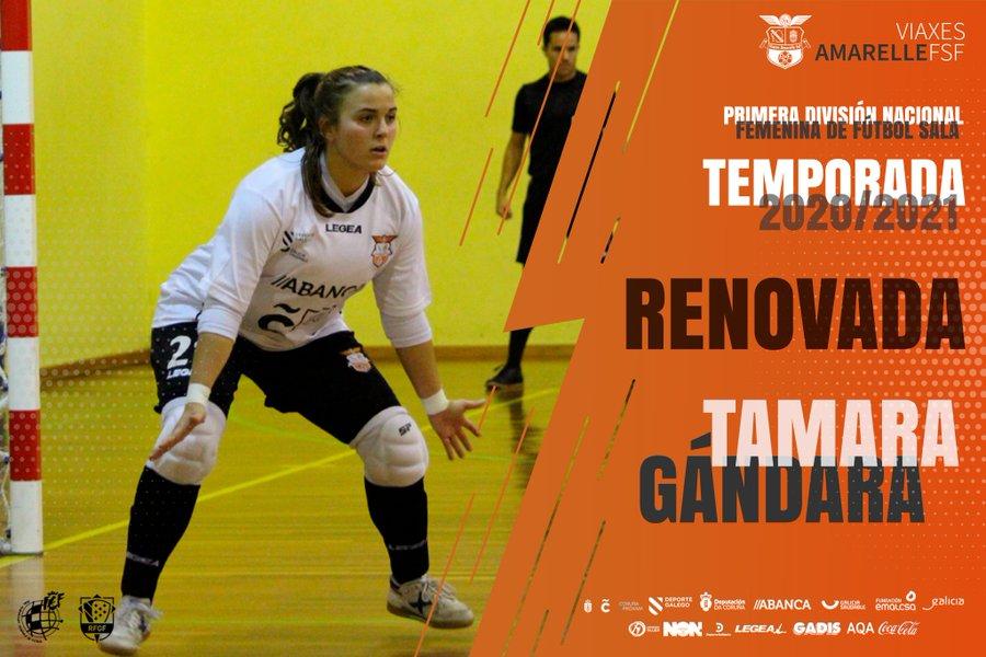 La portería del primer equipo del Viaxes Amarelle FSF a buen recaudo con la renovación de Tamara Gándara