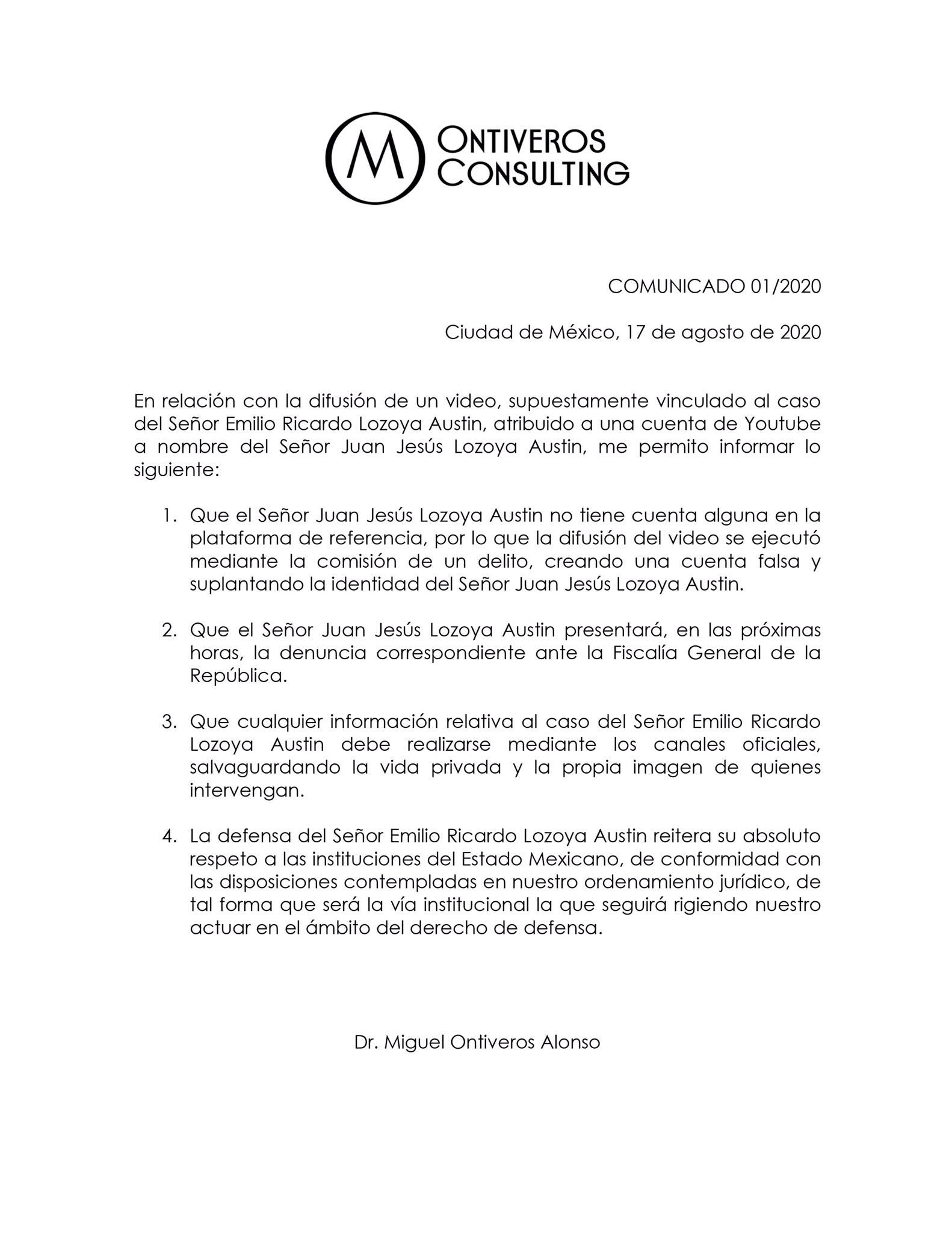 Video en YouTube de Emilio Lozoya es revelado durante la negociación que exdirectivo tiene con el Gobierno de AMLO.
