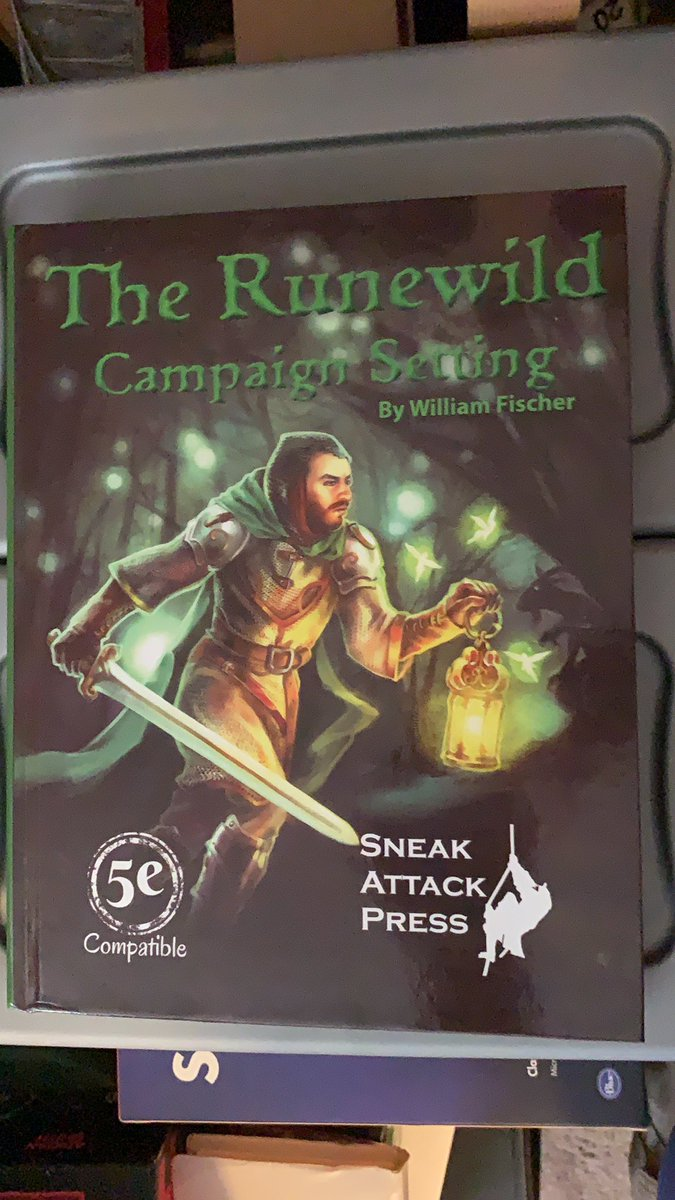 Just got my first #dnd5e book at my new house that I backed from @SneakAttackPres The Runewild Campaign Setting. So cool to get something #dnd at the new home now I just have to finish unpacking so I can play https://t.co/Hp9Fo26gGa