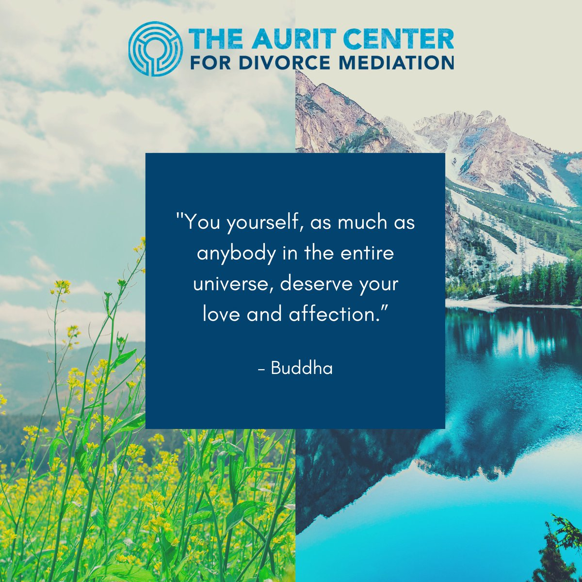 Take time to show yourself some love today. You deserve it.  #theauritcenter #healthydivorce #mediation #divorcemediation #online #onlinemediation #family #selfcare #selflove #time #breathe #deserve #wecare #conflictresolution #quote #Buddha #love #affection #universe https://t.co/doKAudraqS