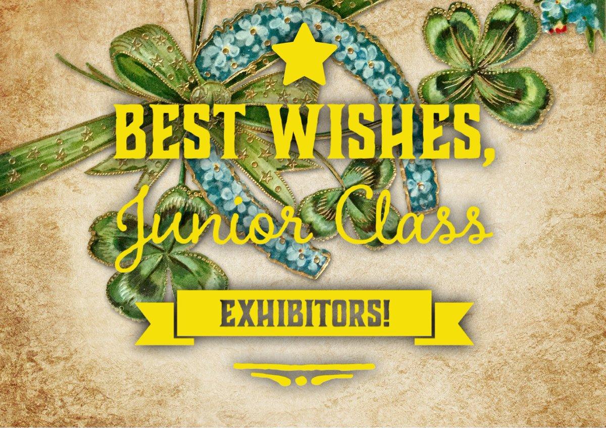 Heading into judging week. Best wishes to all 2020 Junior Class exhibitors! #doyourbest #creativitymatters #herewegrow #thankyouvolunteers https://t.co/ee9KMXWxaT https://t.co/stRf263wvx