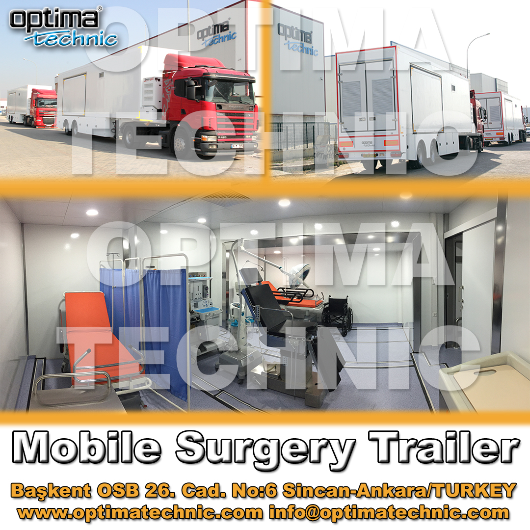 Mobile Surgery Trailer which manufactured by Optima Technic, is fully equipped with Medical Gas System, Hepa Filter System, Operation Theatre Equipment and more...  #madeinturkey #mobilehospital #surgery #surgical #surgerytrailer #mobilesurgery #healty #optimatechnic https://t.co/RO4wBIvdtT