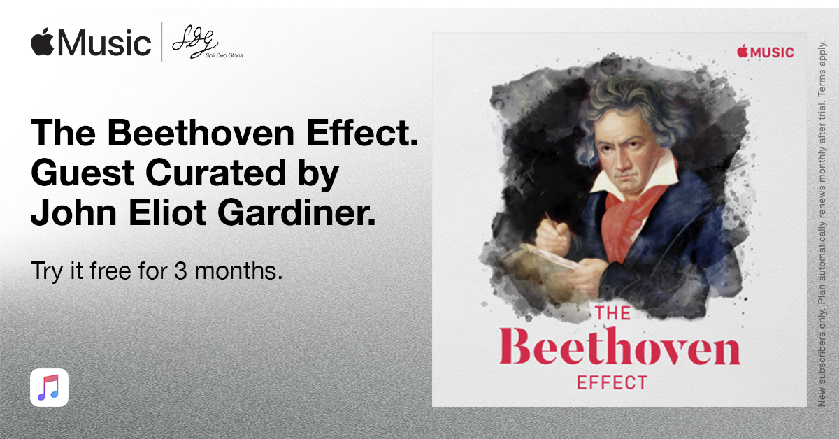 Last few days to listen to John Eliot Gardiner's Beethoven playlist curated exclusively for @AppleMusic  #beethoven250 #thebeethoveneffect @mco_london