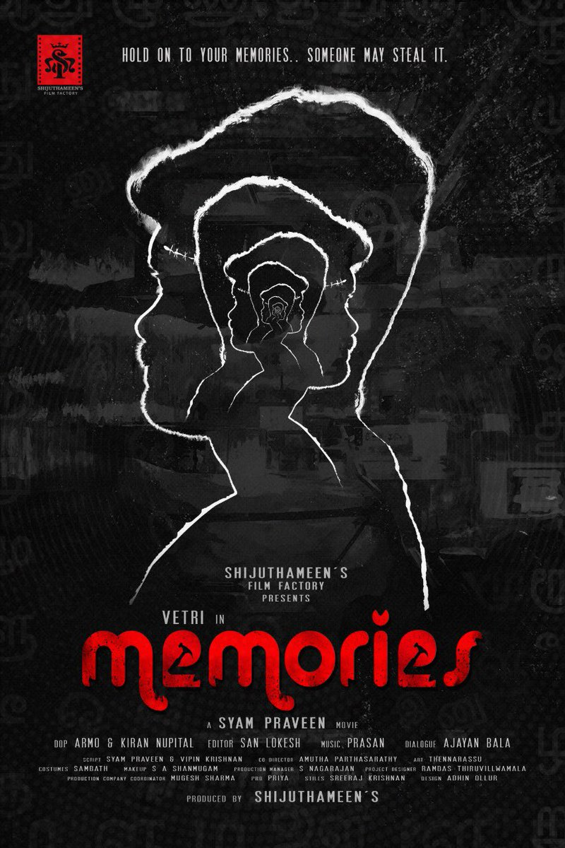 Presenting, #MemoriesFirstLook starring #Vetri in the lead, Best wishes @PRO_Priya & the entire team....GB https://t.co/zr2NTvhq0E