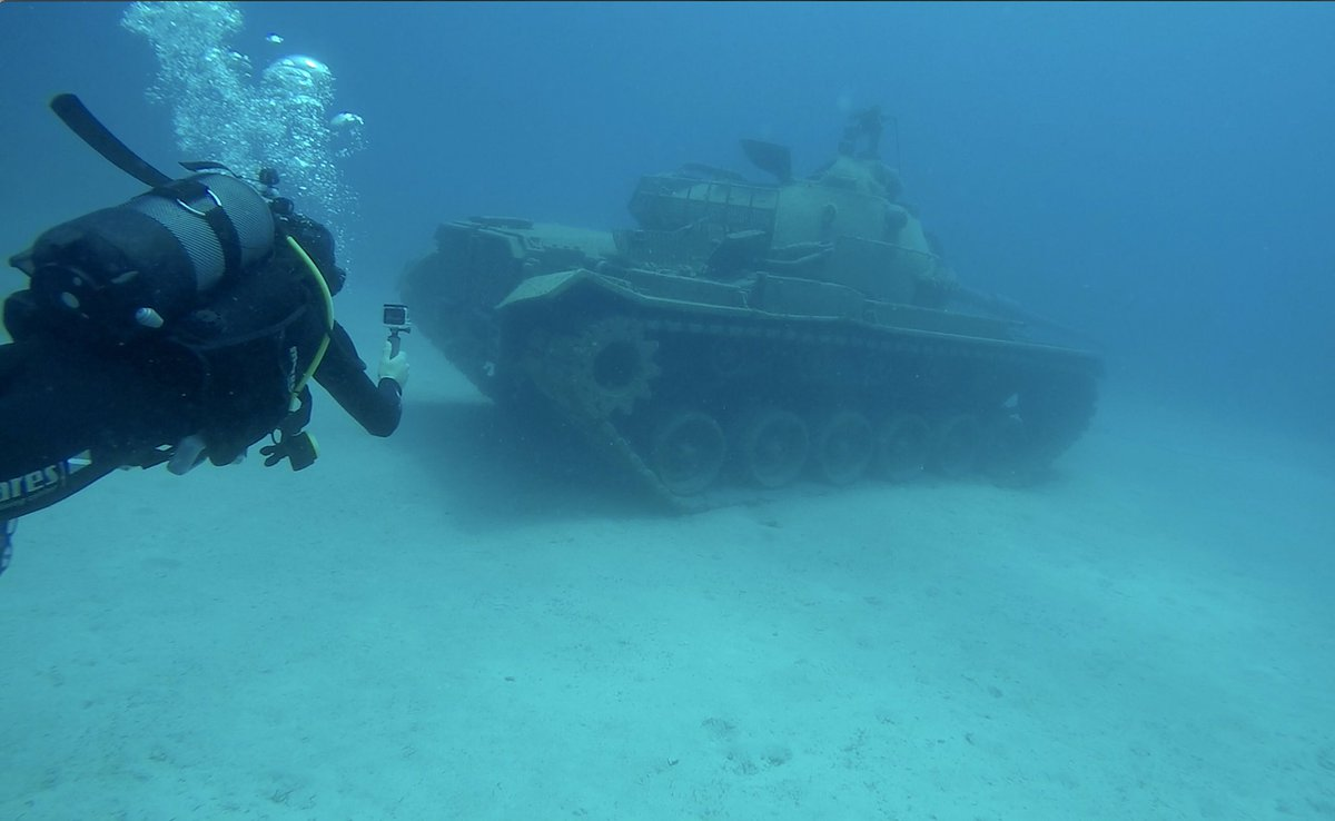 Just a normal day until you find an underwater tank!  Discover the 7 interesting diving spots in Turkey:  https://t.co/9eG087oA7A https://t.co/ADIt8HAL3s