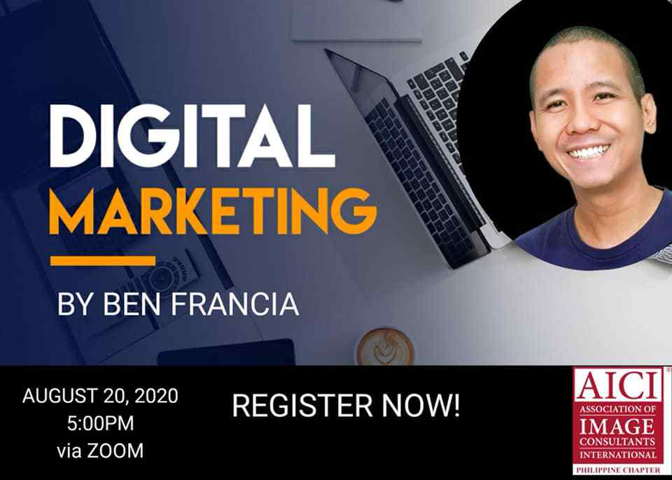 Together with AICI Philippines, join us this Thursday, August 20, 2020 at 5pm as we talk all about Digital Marketing! :)   Register here: https://t.co/liV5qJop8u https://t.co/cERjoA5zu0