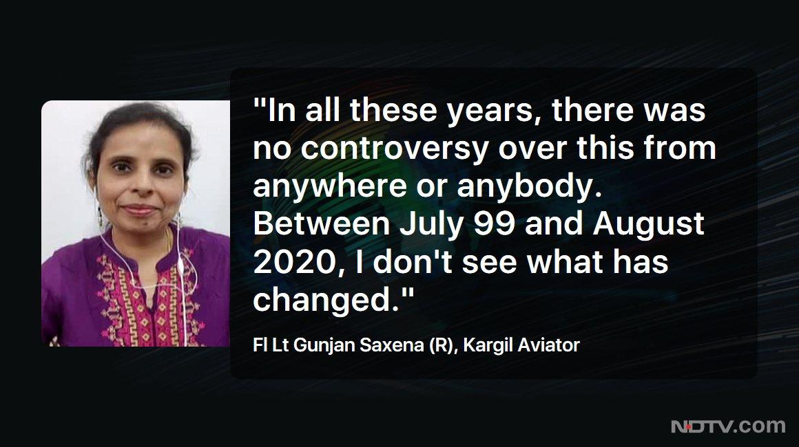 Ndtv On Twitter Leftrightcentre Fl Lt Gunjan Saxena R Kargil Aviator On Gunjansaxenathekargilgirl