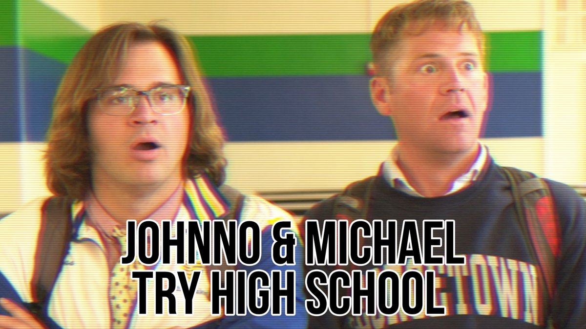 """. @Johnno_Wilson and Michael try to make a recruitment video for their high school, but the other """"annoying"""" students won't stop getting in their way!"""