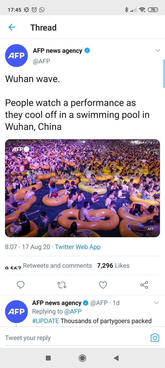 Here we have Wuhan where it all started, people rammed into a swimming pool, and we can't have 200 at an outdoor football match in Ireland, surely 30 lads on the pitch in more danger than 200 spread out around the ground, who is making these decisions!??? #COVID19ireland #GAA https://t.co/F90ZPBM9eR
