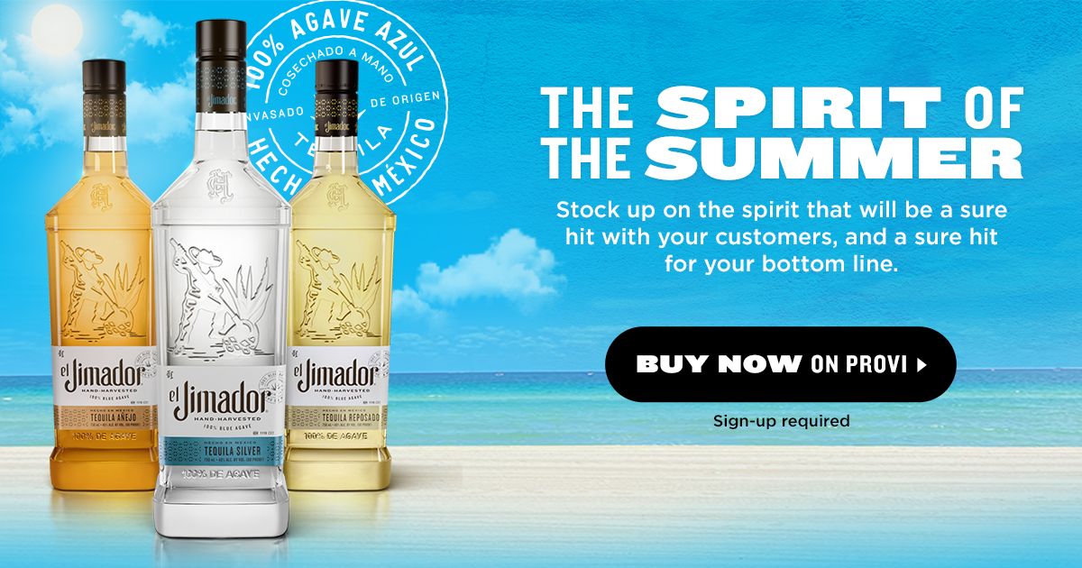 Summer is a state of mind, and consumers this summer have El Jimador on their minds. One of the top 10 tequilas worldwide, El Jimador can deliver a big win for your business. Visit our Provi page to find out more and place your order. https://t.co/WcjicJLWpV https://t.co/HolnnyDx2Q