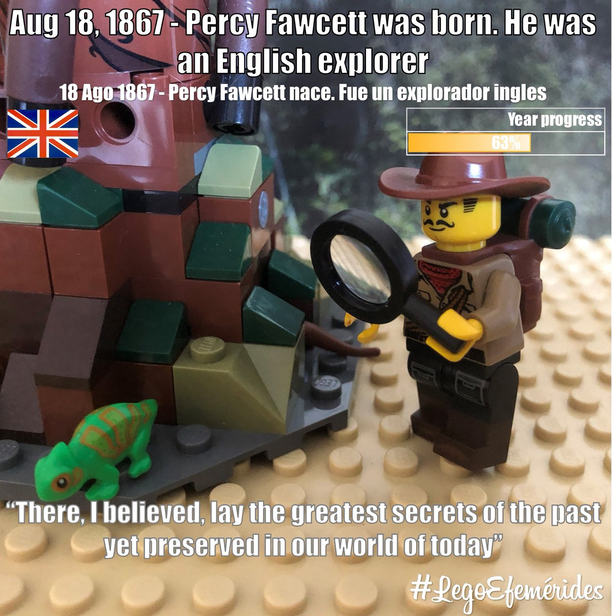 #Aug18 #1867 - #PercyFawcett was born. He was an #English #explorer #18Ago 1867 - Percy #Fawcett nace. Fue un #explorador #ingles There, I believed, lay the greatest secrets of the #past yet preserved in our #world of today --- #18deAgosto #HappyBirthady #FelizCumpleaños https://t.co/nV59dW306s