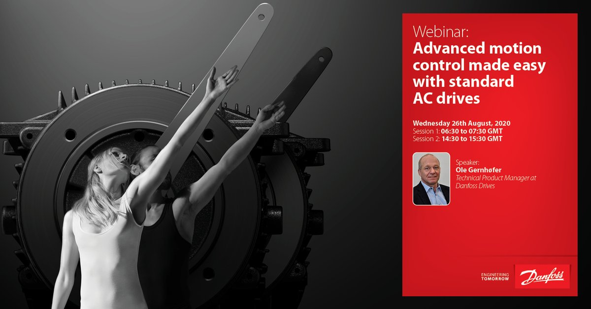 Advanced motion control features are easier to use than you think! Join our #webinar where Ole Gernhøfer will share his expertise on advanced motion control with #ACdrives.    26 August 06:30 to 07:30 GMT  https://t.co/b0c1jIHddk    14:30 to 15:30 GMT  https://t.co/26e5styuNv https://t.co/OcJVcfjKaL