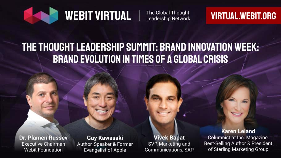 In 1 hour join at #Webit Virtual to rewind best moments -Season 1, hosted by Dr. @PlamenRussev with special guests from today's edition @GuyKawasaki,Author, Speaker & Former Evangelist of Apple @canva; @vivek_bapat, SVP @SAP;@karenfleland,@Inc: https://t.co/VtH1BxdaIT https://t.co/ipAFFUqHKy